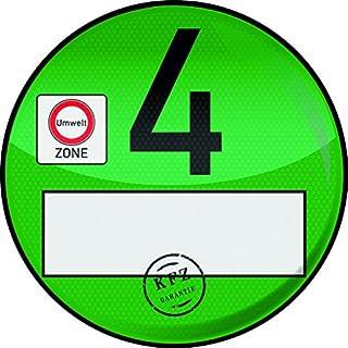 1 Haftfolie Euro 4 Plakette von Finest-Folia Umweltplakette Umweltzone Spassplakette