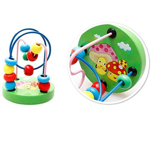 DANDANdianzi Baby-Kleinkind bunten hölzernen Around-Korn-Draht-Labyrinth Bildung Developing Interactive Kinder Babyspielzeug