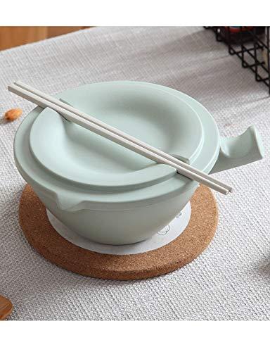 Schüssel Instant Noodle Bowl mit Deckel ist Besser als Keramikschale Big Bowl Instant Noodle Cup Student Dormitory Besteck (Color : A) Big Bamboo Bowl