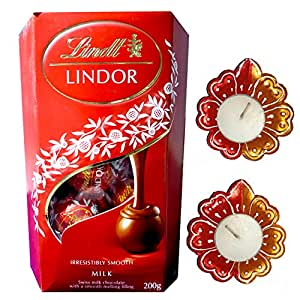 Lindt Lindor Exotic Milk Truffles Chocolate Gift Box - Valentines Day Combo - 200 Grams Pack