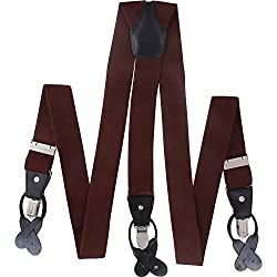 Suspender are designed for regular use with durable elastic straps and metal clips for extra holding power which adjusts to fit all sizes