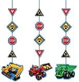 3x Hängende Decken-Deko * Baustelle * für Kindergeburtstag // 99-5955 // Kinder Geburtstag Party Deko Hanging Cutouts Baumeister Bauarbeiter Bob Worker