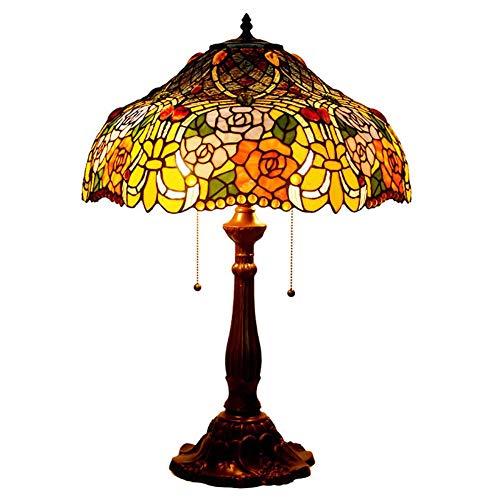 ACTW 18-Zoll-Schreibtischlampe Tiffany Style Six-Sided Rose Schreibtischlampe Wohnzimmer...