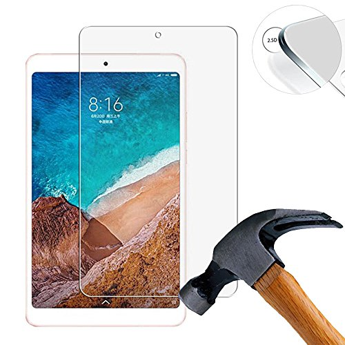 Lusee 2 x Pack Panzerglasfolie Schutzfolie für Xiaomi Mipad 4 / Mi Pad 4 8.0 Zoll Bildschirmschutz Tempered Glass Folie Screen Protector Panzerfolie Glasfolie 0,3 mm 9H Clear 2.5D