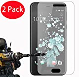 FoneExpert® 2 Pack - HTC U Play Verre Trempé, Vitre Protection Film de Protecteur d'écran Glass Film Tempered Glass Screen Protector pour HTC U Play