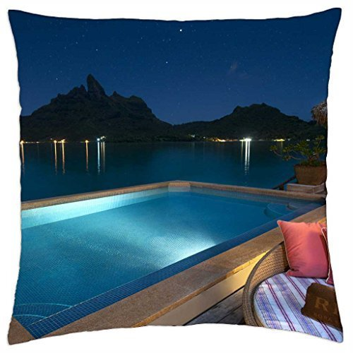 jacuzzi-pool-at-night-time-bora-bora-polynesia-throw-pillow-cover-case-18-x-18