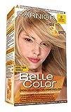 Garnier Belle Color Coloración de aspecto natural y cobertura completa de canas con aceite de jojoba y germen de trigo - Tono: Rubio Claro 8