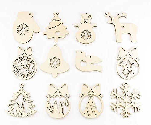ViKi Decorazioni, Addobbi albero di Natale in Legno set da 36 pz