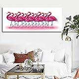HD Print abstrakte rosa Flamingos tropischen Dschungel Vogel tropischen Ölgemälde auf Leinwand...
