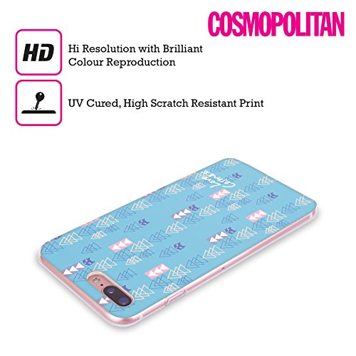 Official Cosmopolitan Blue Triangles Totally 80S Soft Gel Case for Apple iPhone X Blue Triangles