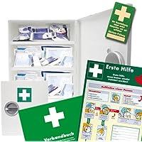 Verbandsschrank - Erste Hilfe Schrank - Kasten DIN 13157 inkl. Füllung, Verbandbuch und 10 Prüfsiegel und Anleitung... preisvergleich bei billige-tabletten.eu