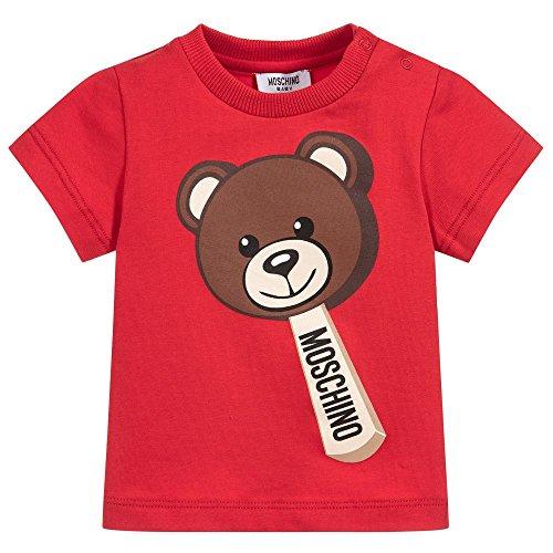Moschino t-shirt rossa con orsacchiotto 9 m