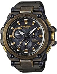 Casio Men's Analogue Solar-Powered Watch with Stainless Steel Bracelet MTG-G1000BS-1AER