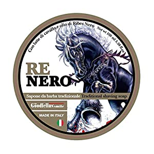 THE GOODFELLAS' SMILE Traditional Shaving Soap Re Nero 100ml. Made in Italy, 300 g RENEROSS
