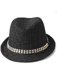Hip-hop moda algodón remache sombreros para hombres y mujeres/Sombreros de ocio al aire libre/ Jazz en otoño e invierno sombrero
