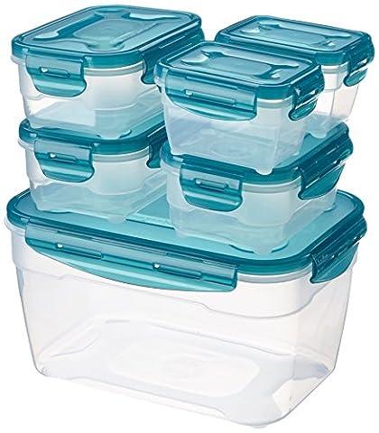AmazonBasics Lot de boîtes hermétiques de conservation des aliments 6