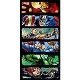 Marvel Avengers - Toalla de baño y playa, diseño Comic Strip, 140 x 70 cm (Hasbro MV15075)