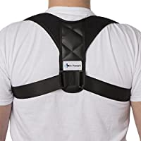 Back Posture Corrector for Women and Men by Dr Posture - Adjustable Posture Back Brace Corrects Smart Phone and Computer-Related Posture Problems - Spinal Support for Neck, Back and Shoulder Pain