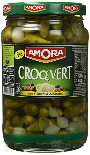 Amora Cornichons Croq'Vert Fins 950 g