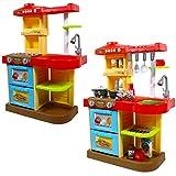 """deAO Kinder-Küchenspielset """"My Little Chef""""(""""Mein kleiner Koch"""") mit 30-teiligem Zubehör in den Farben Rot oder Pink erhältlich - 8"""