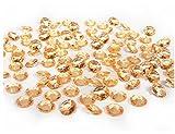 Unbekannt partydeco adc12–019-karton–100Dekosteine Diamanten aus PVC, Gold