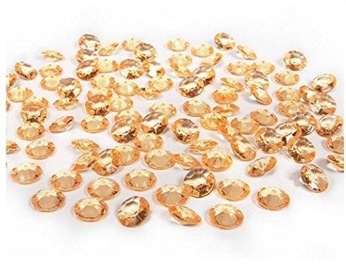partydeco adc12–019-karton–100Dekosteine Diamanten aus PVC, Gold
