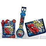 Set regalo reloj digital y billetera de Spiderman