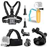 TEKCAM Action Camera Accessories Kits for AKASO EK7000 Brave 4/ Crosstour/Campark/ Victure/YI Discovery 4K Waterproof Camera