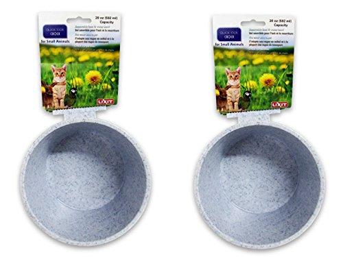 Lixit Corporation BLX0758 Obsttopf für kleine Tiere, 570 ml, Granit, 2 Stück -