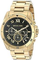 Michael Kors Mens Brecken Gold-Tone Watch MK8481