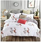 Starstorm_6 Pieces King Size Fitted Bed Sheet Set_Flora Chex Design (Click above on Starstorm for more designs)