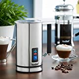 from VonShef VonShef Milk Frother Electric Premium Stainless Steel Dual Function - Warmer For Hot And Cold Milk, Latte Cappuccino Foamer