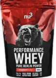 nu3 Performance Whey Protein | Strawberry Blend | 1kg Proteinpulver | Voller Erdbeer-Geschmack |...