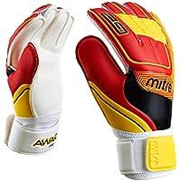 Mitre Awara - Guanti per portiere, Bianco (White/Red/Yellow), Taglia 6 - Piatto Keepers