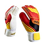 Mitre Awara Goal Keeper Gloves - White/Red/Yellow, Size 6