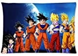 Morimo Anime Dragon Ball Z Goku Custom Zippered Rectangle Pillow Case Pillowcases Throw Cover Size:16'x 24' (Two Sides)