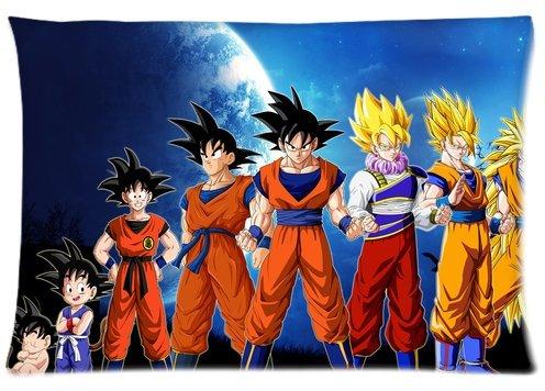 Morimo Anime Dragon Ball Z Goku Custom Zippered Rectangle Pillow Case Pillowcases Throw Cover Size:16
