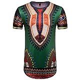 T-Shirt Africain, Malloom Chemise à Manches Courtes à Manches Courtes pour Hommes...