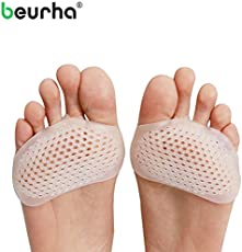 Akruti 2PCS Gel Silicone Heel Pads Toe Pads Forefoot Cushion Protector Splint Pads for High Heel Foot Cover Feet Pain Relief Foot Care
