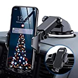 andobil Handyhalter fürs Auto Handyhalterung Upgrade 4.0 Lüftung & Saugnapf Halterung 3 in 1 Universale KFZ Handyhalterung Smartphone Halterung für iPhone11/11 Pro/Samsung Note10/HUAWEI Xiaomi LG usw -