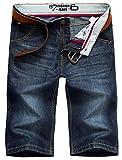 Valuker N6061 Herren Jeans Shorts Sommer Kurze Hose Dunkelblau-31