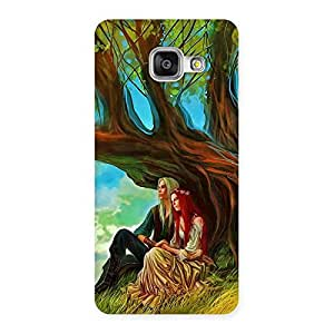 Couple Under Tree Multicolor Back Case Cover for Galaxy A3 2016