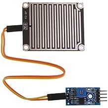 FLAMEER Sensor De Detección De Gotas De Lluvia Modue Rain Weather Module Humidity Para Arduino