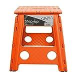 Klapphocker Step-up, faltbarer Hocker für Stall, Haus, Camping versch. Farben, Farbe:orange