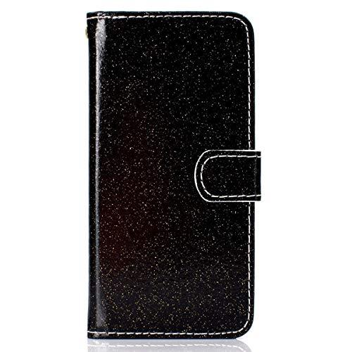 Gelusuk Samsung Galaxy J4 2018 Hülle,Luxus PU Leder Flip Case Brieftasche Etui Schutzhülle Magnet Bookstyle Wallet Case mit Kartenfach Standfunktion für Samsung Galaxy J4 2018,Schwarz