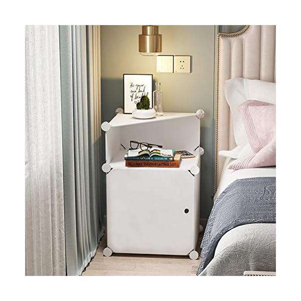 comodino bianco camera da letto comodini camera da letto tavolini con  contenitore piccolo armadietto bianco plastica-per due cassetti sinistro e  ...