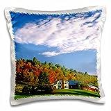 Danita Delimont - Farms - Crisp fall afternoon on a Vermont farm - US46 RDU0000 - Richard Duval - 16x16 inch Pillow Case (pc_95038_1)