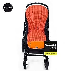 Walking Mum–Housse Été Chaise Poussette universelle Walking Mum Happy Fluor orange