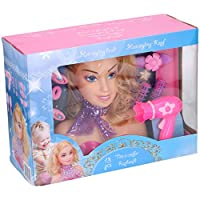 HomeStoreDirect Girls Styling Fashion Doll Head Hair With 13 Accessories Beauty Role Play Toy