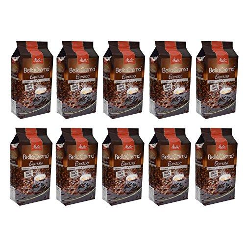 Melitta BellaCrema Espresso, 100 {262adb4b41d7a19594c27aa16060dd147ad12fa5277a71ca447d1471186d25c0} Arabica, Ganze Kaffeebohnen, 1000g, 10er Pack (10 x 1kg)